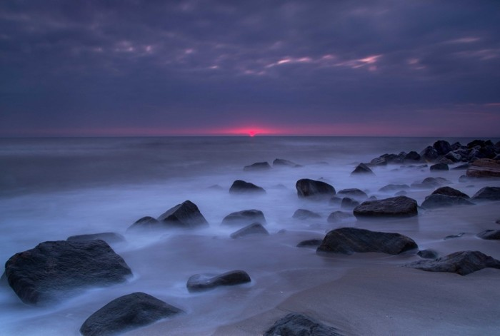 10. The sun is just starting to rise in Sandy Hook. Taken by  Stanley Kosinski.
