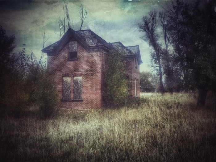 """22. Shane Reck says, """"Sometimes creepy houses are there all year 'round, not just in October."""" This abandoned house is in Kamas."""