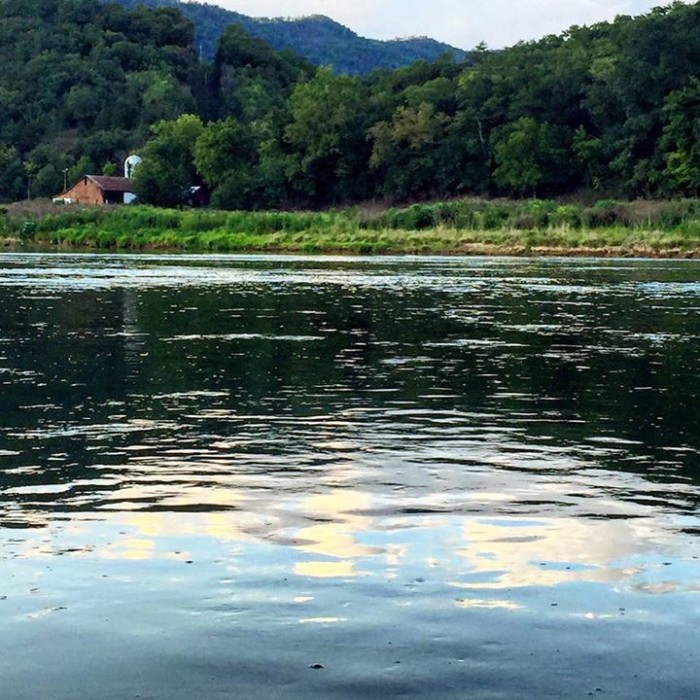 10. Tim Foster provided this photo from Bentonville showing the South Fork of the Shenandoah River looking like a piece of perfectly placed glass.