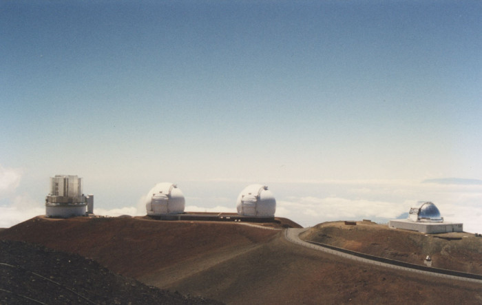 3) And Sitting atop Mauna Kea, at 13,796 feet above sea level is the world's largest telescope, at the Mauna Kea Observatory.