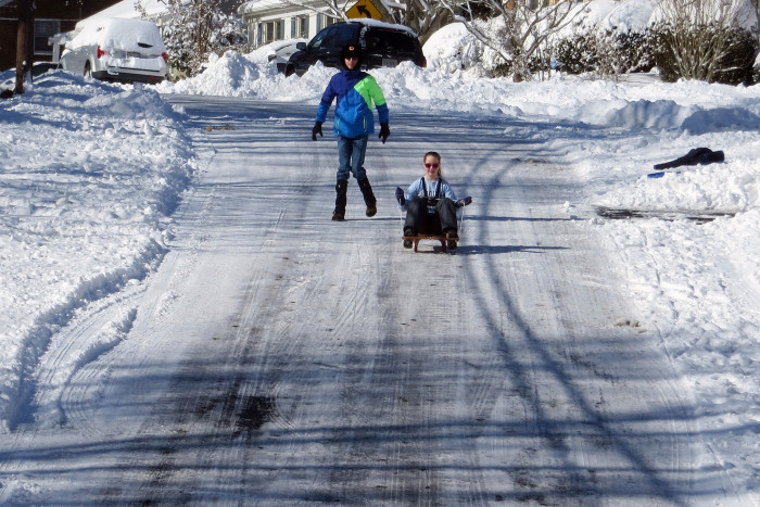 19. And getting snowed in? No problem. You could walk to your best friends house.