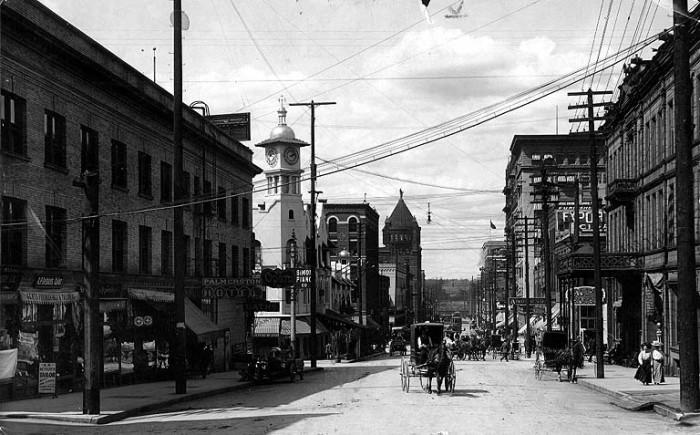 5. Downtown Spokane, circa 1910.