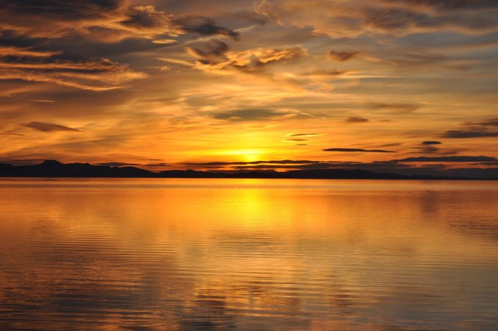 16. Stu Smith captured this sunset from Antelope Island.