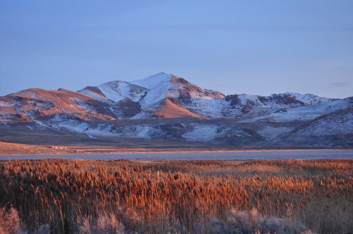 11. Stu Smith captured this shot of Antelope Island at dusk.