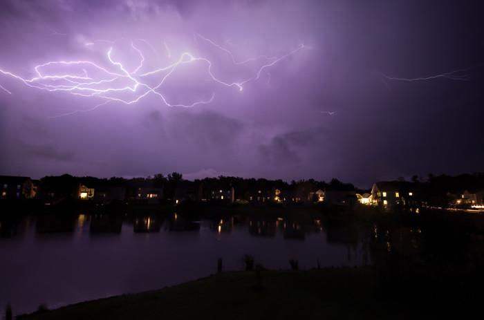 12. A summer storm near Warrenton.