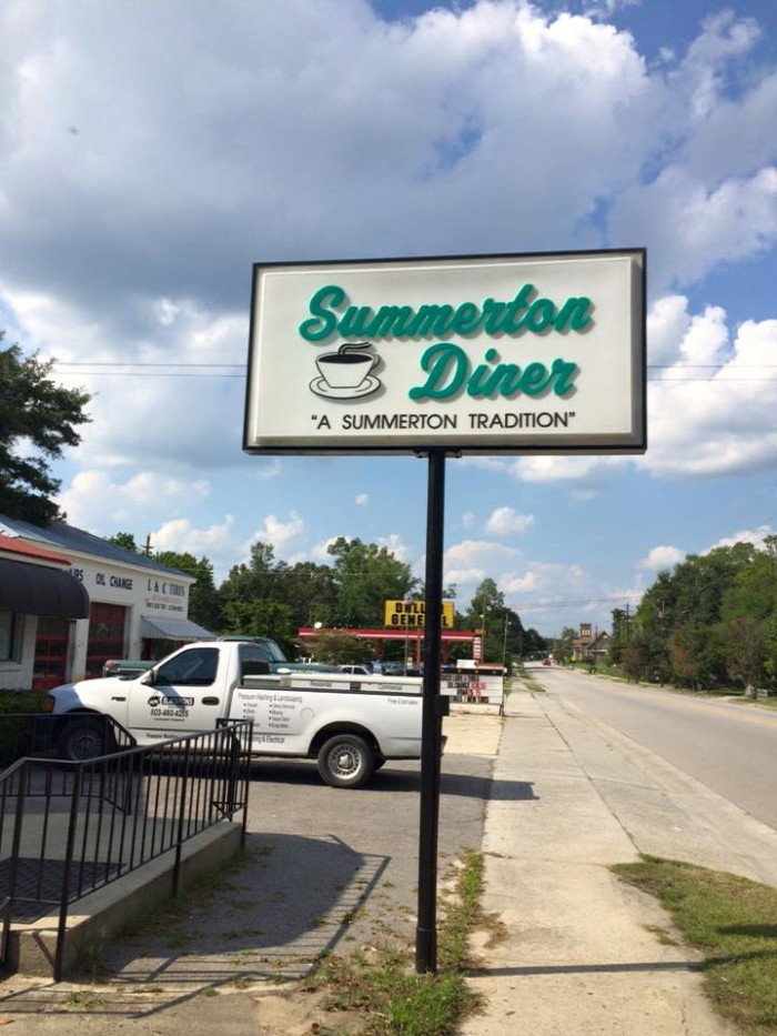 1. Summerton Diner, 32 South Church Street, Summerton