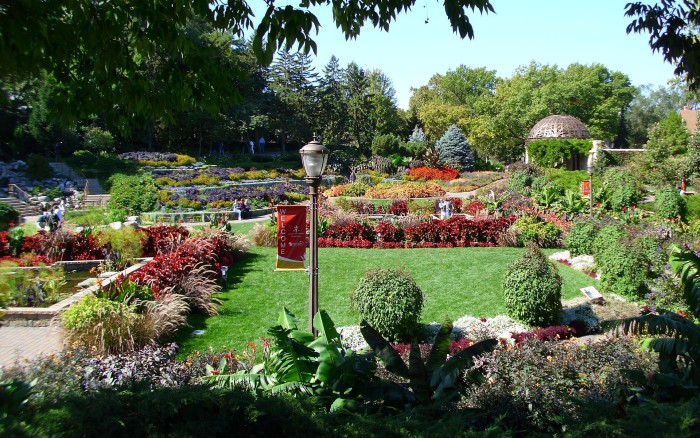1. Take a walk through a beautiful garden together.