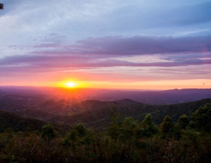1. This sunrise on the Blue Ridge shows why Virginia is one of the most amazing places to live in the world. Submitted by Tom Wright.