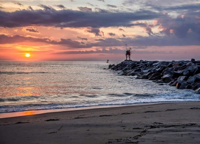 2. Scott MacKay was in the right place at the right time to capture this sunrise at Rudee Inlet, Virginia Beach.