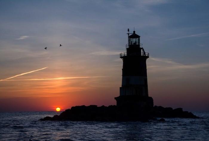 9. Sunrise at Romer Shoal Lighthouse, taken by Stanley Kosinski.