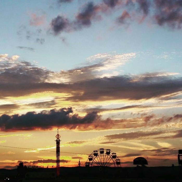 13. A perfect silhouette of the New River Valley Fair in Dublin, submitted by Autumn Duncan.