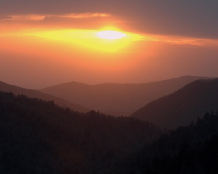 7) The haziest, most lovely sunset in gorgeous East Tennessee.