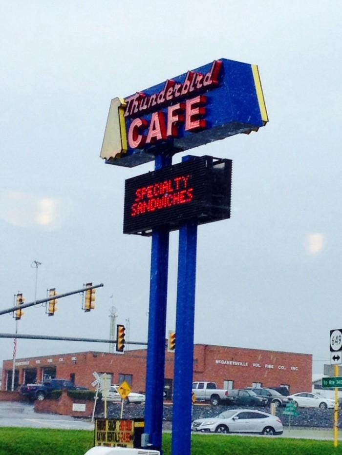 8. The Thunderbird Cafe, McGaheysville