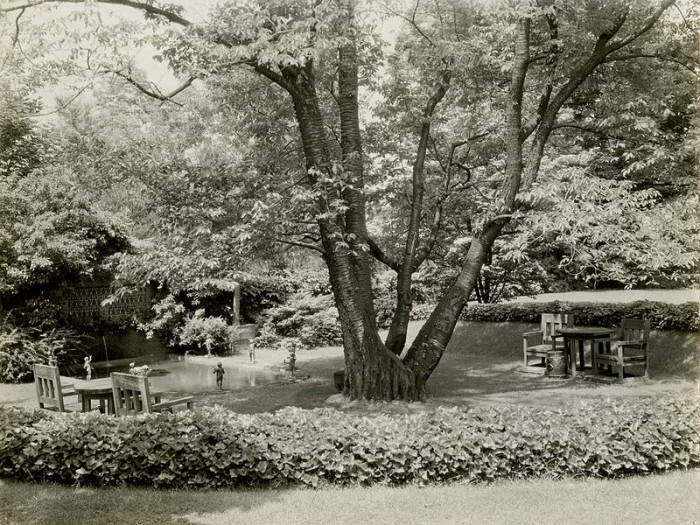 Here we have a 1921 photo taken of The Deanery Garden at Bryn Mawr College.