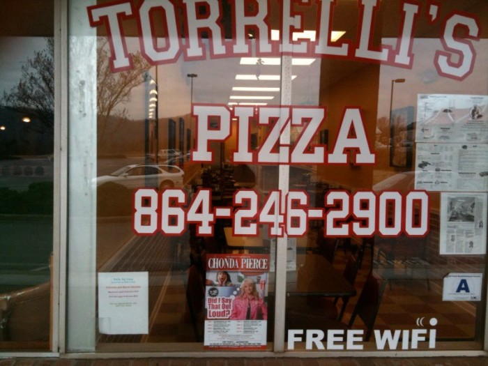 "5. Torrelli's Pizza - 28"" Pizza Challenge - 5000 Old Buncombe Rd, Greenville"