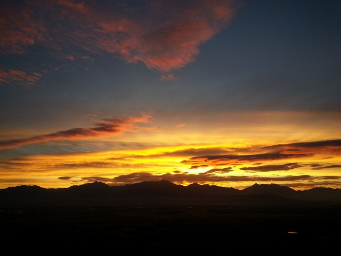 13. Tracey Bakelar captured this gorgeous photo of the sunrise over the Salt Lake Valley.
