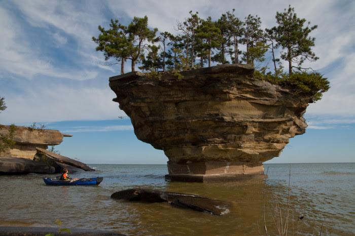 2) Turnip Rock on Lake Huron