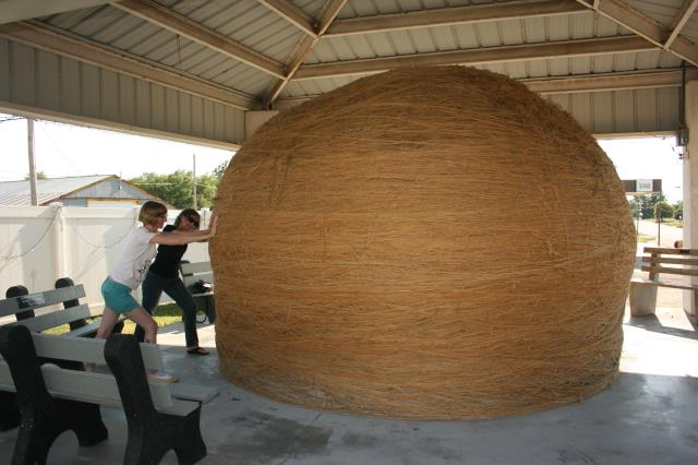2. We've all taken a picture with the world's largest ball of twine.