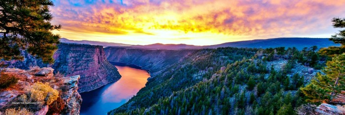 24. Tyler Gudmundsen submitted this photo of a sunrise at Flaming Gorge. These colors are unreal!