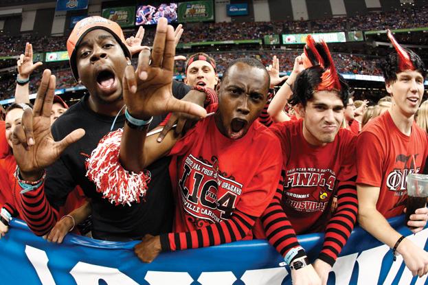 1. Cardinal and Wildcat fans