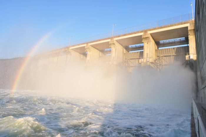 2) The J. Percy Priest Dam has a rainbow on call 24/7.