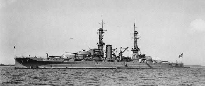 3) The USS Arizona, approximately two decades before it reached its final resting place on the ocean floor after the Japanese attacks on Pearl Harbor.