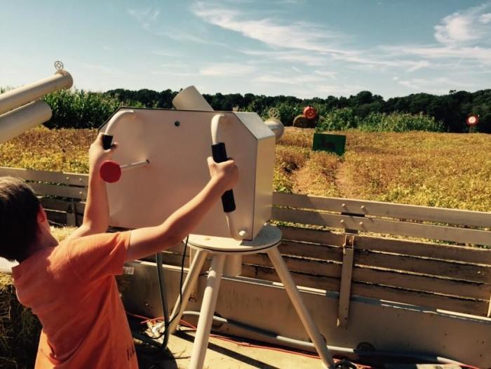 Wayside Farm fun pumpkin cannon