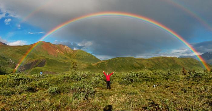 6) Another spectacular double rainbow! Photoshoot!