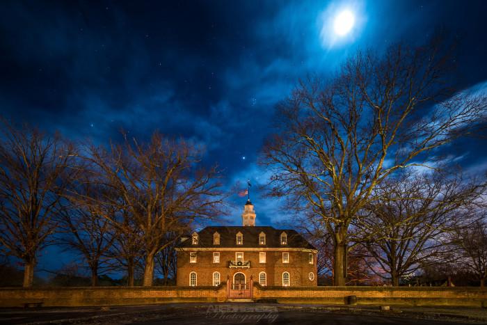 16. Williamsburg by moonlight.