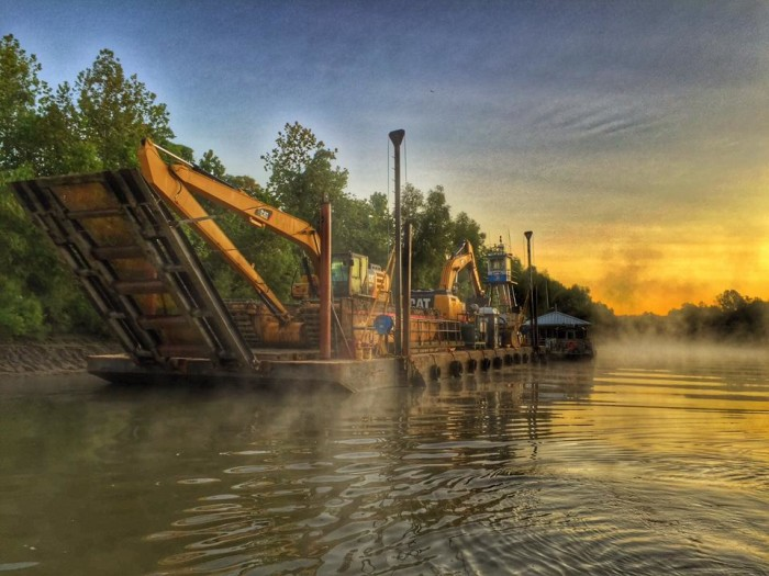 5) Patriot Construction starting job in Atchafalaya Basin by Cody Fortier