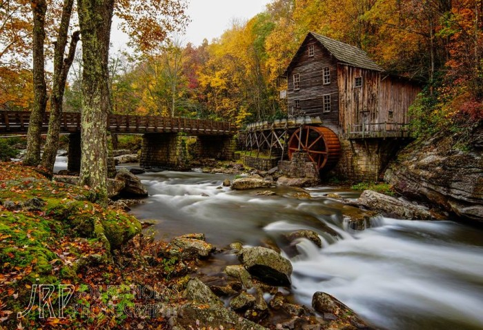 8. Jon Reynolds perfectly captures the gristmill at Babcock State Park