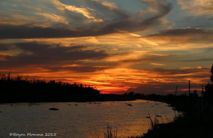 10. Sunset shot of Bayou Folse, Raceland captured by Bayou Mama Photography.