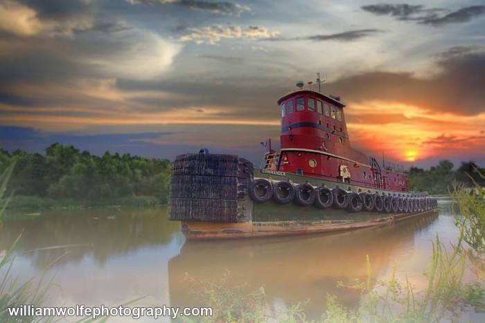 5) Tug Boat in Lafitte, LA by Bill Wolfe