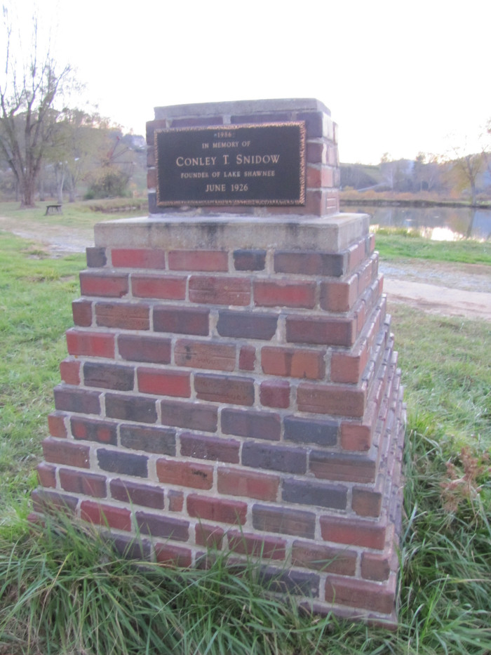 12. This monument to the founder of the park, C.T. Snidow.