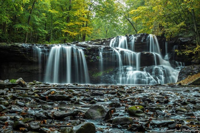 16. Here's a lovely view of Brush Creek Falls in Athens.