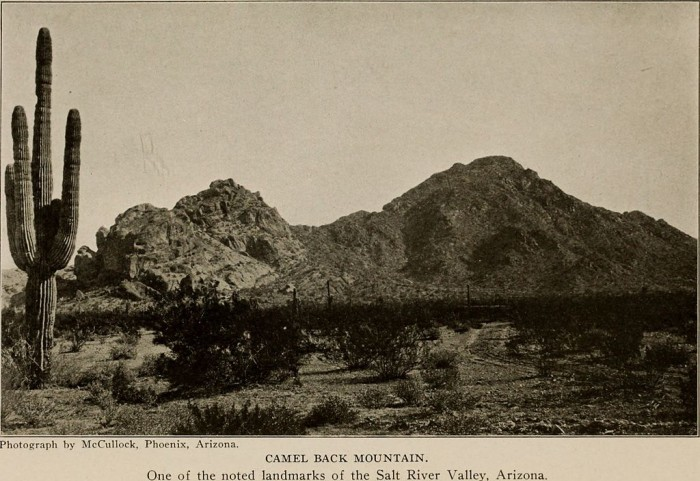 12. Camelback Mountain in 1917 sure looked a lot different than it does nearly a century later.