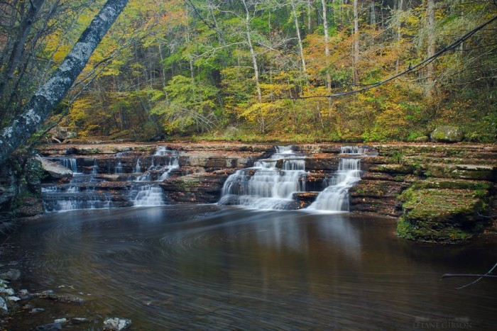 10. There are beautiful colors in this shot of Campbell Falls in Camp Creek State Park in Mercer County.