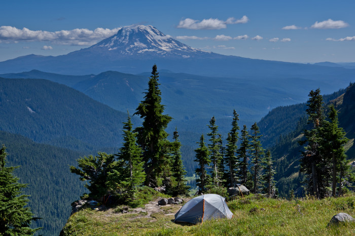 7. Go camping in the Gifford Pinchot National Forest