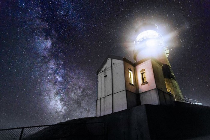 3. Washington's oldest lighthouse,  Cape Disappointment, with the Milky Way in the background. This incredible shot was sent to us by Jerre Stead!