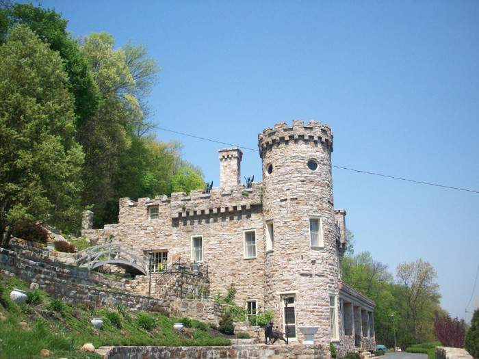 A view of the castle, located at 276 Cacapon Road in Berkeley Springs.