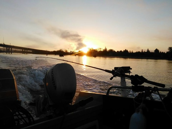 8. Out fishing on the Chehalis River, by Donnie Edmunson.