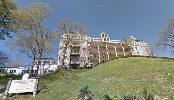 1. Guests at the Crescent Hotel in Eureka Springs might feel a little crowded by former hospital patients.