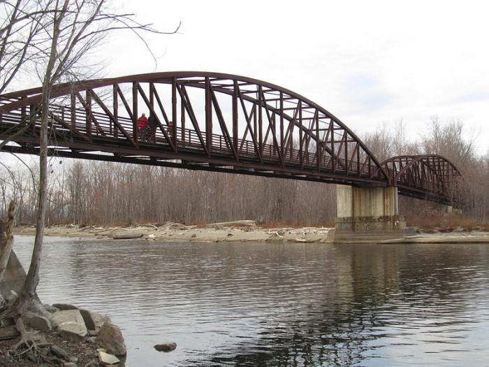5.  Cool curved arch bridge in Burlington.
