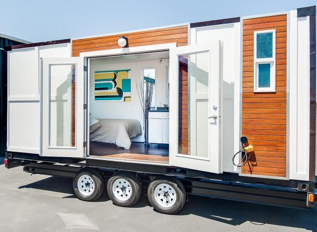 8) A tiny house on Wheels.