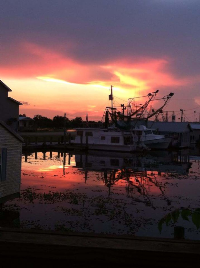 8. Boats at sunset in Lafitte captured by Dalton Haak.