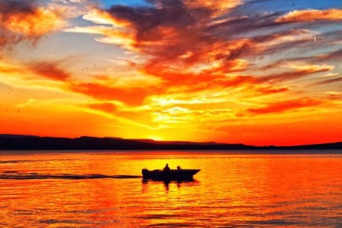 5. Blazing Lake Dardanelle Sky by Josue Enriquez