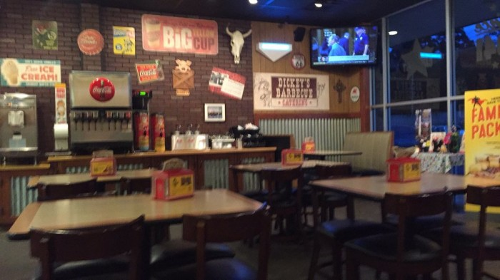 3. Dickey's Barbecue Pit in Beckley, Clarksburg, Fairmont, Morgantown, Lewisburg, Beaver and Sophia.