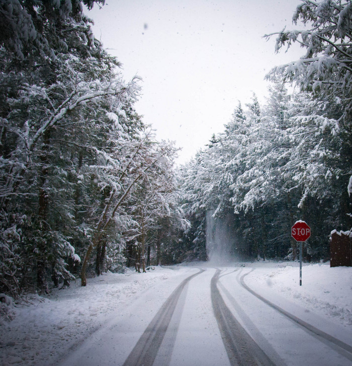 2. Driving poorly on winter roads.