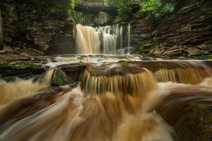 12.  Elakala Falls are gorgeous in the shot from Kevin King.