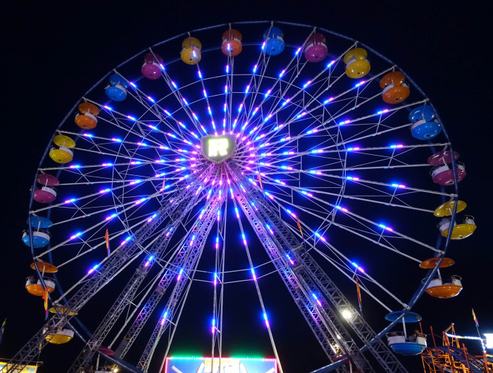 12. The ferris wheel at this year's State Fair of West Virginia.